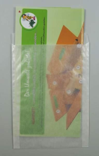 Papier-Flachbeutel transluzent 130x180+20mm