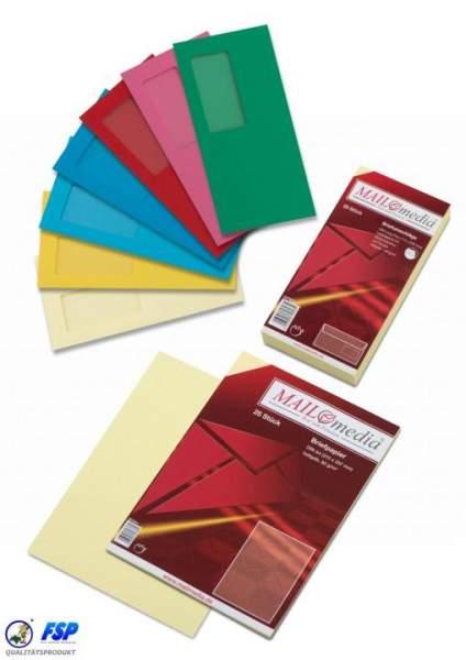 Rote Briefumschläge mit Spitzklappe und Fenster DIN Lang Maße:110x220mm nassklebend. Verpackungseinheit (VE) = 1000Stk.