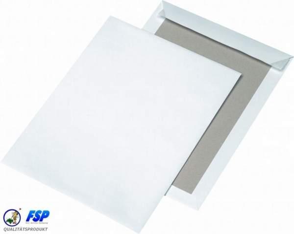 Weiße Papprückwandtaschen DIN C4 229x324mm ohne Fenster haftklebend