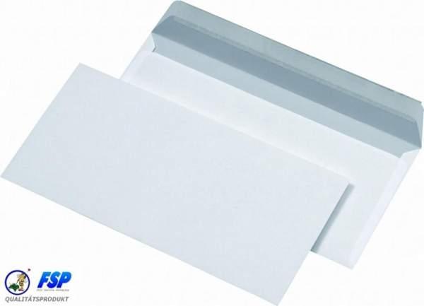 Weiße DIN Lang Briefumschläge 110x220mm 75g/qm ohne Fenster hk (1000 Stück)