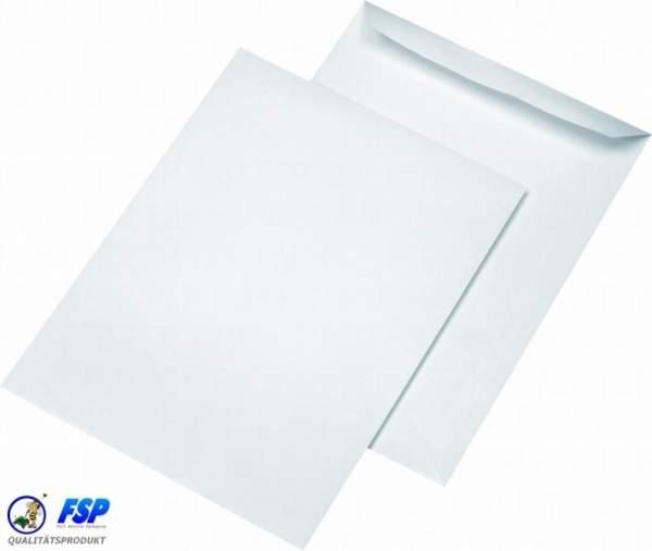 Weiße DIN B4 Briefumschläge 250x353mm 100g/qm ohne Fenster sk (250 Stück)
