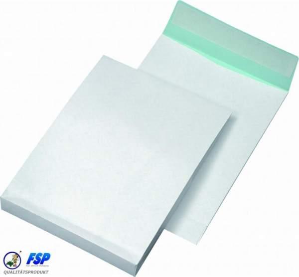 Weiße DIN C4 Briefumschläge 229x324mm 140g/qm ohne Fenster hk (250 Stück)