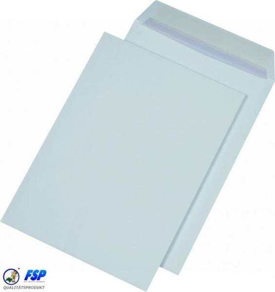 Weiße DIN B4 Briefumschläge 250x353mm 120g/qm ohne Fenster hk (250 Stück)