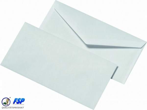 Weiße DIN Lang Briefumschläge 110x220mm 75g/qm ohne Fenster nk (1000 Stück)
