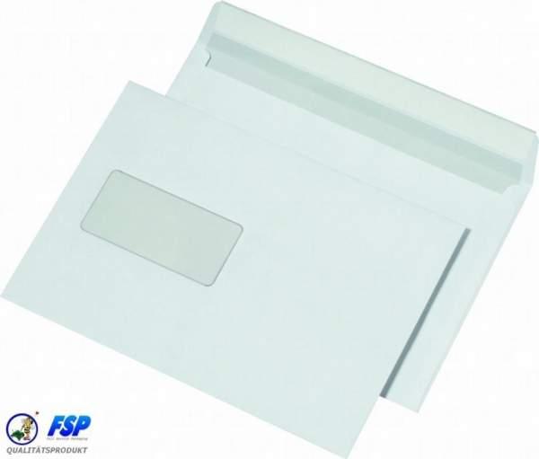 Weiße DIN C5 162x229mm Umschläge mit Fenster hk (500 Stück)