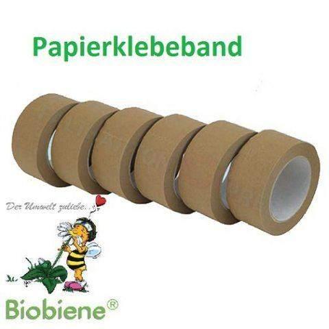 Packbiene® Papierklebeband Öko 75mmx50m Braun 1 Rolle