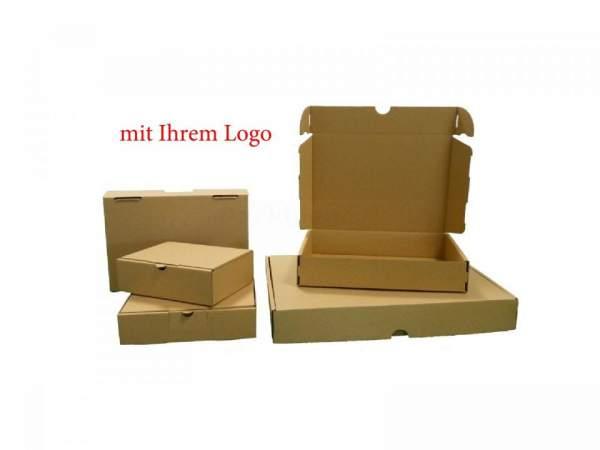 232x156x41mm Maxibriefkarton Postverpackungen braun mit Logo