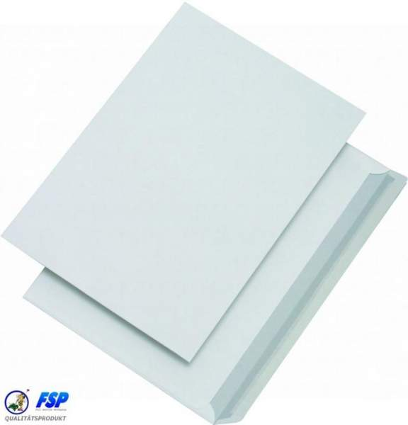 Weiße DIN C4 Briefumschläge 229x324mm 100g/qm ohne Fenster hk (250 Stück)