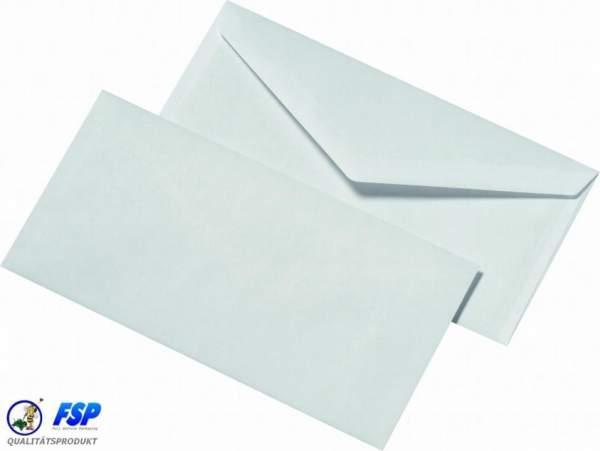 Weiße DIN Lang 110x220mm Briefumschläge ohne Fenster nk (1000 Stück)