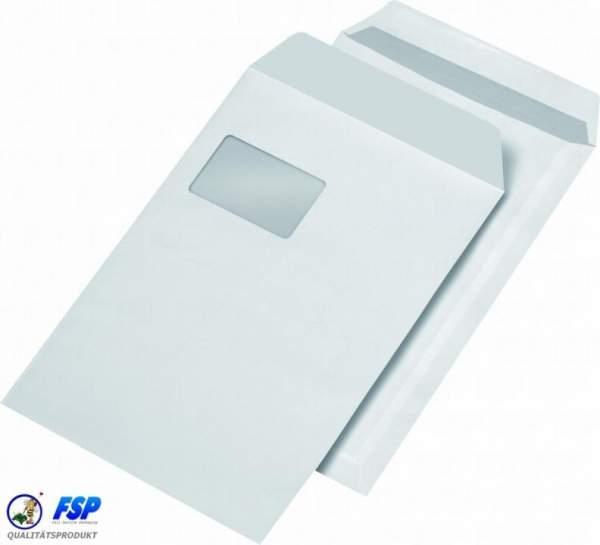 Weiße DIN C4 Briefumschläge 229x324mm 120g/qm mit Fenster sk (250 Stück)