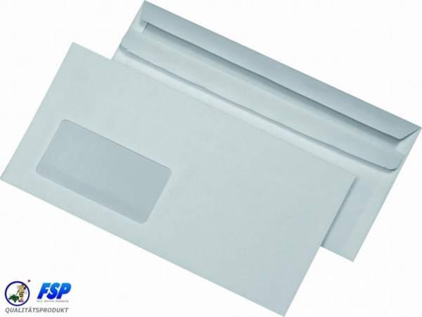 Weiße DIN C6/5 114x229mm Briefumschläge mit Fenster hk (500 Stück)