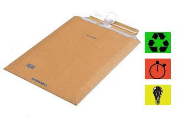 DIN A4+ Karton Versandtaschen 270x390mm braun