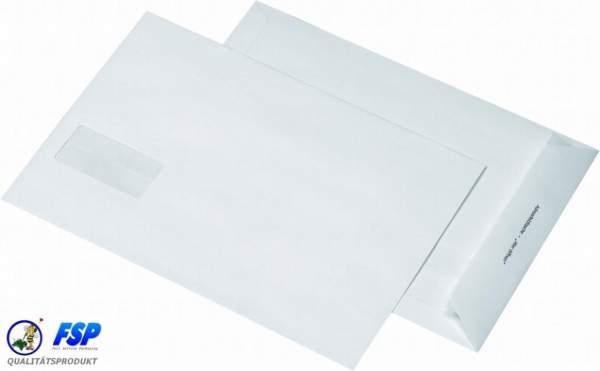 Weiße DIN B4 Briefumschläge 250x353mm 120g/qm mit Fenster hk (250 Stück)