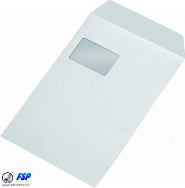 Weiße DIN C4 Briefumschläge 229x324mm 90g/qm mit Fenster nk (250 Stück)
