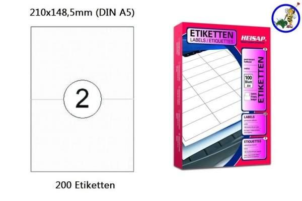Papier-Etiketten 210x148,5mm DIN A4