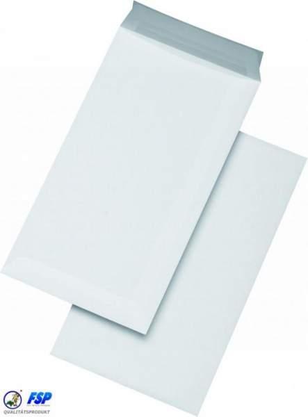 Weiße kompakte Versandtaschen 125x229mm haftklebend
