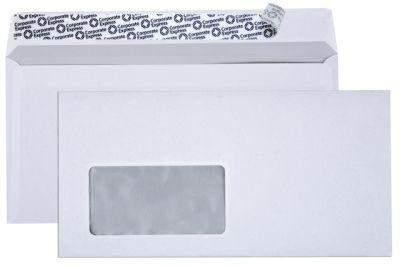 Briefumschlag DL DIN Lang HK mit Fenster weiss - 1000 Briefumschläge