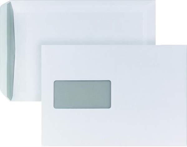 Briefumschläge C5 mit Fenster 90 g/m² weiß sk / 500 Stück