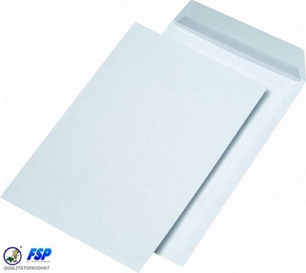 Weiße DIN C4 Briefumschläge 229x324mm 120g/qm ohne Fenster hk (250 Stück)