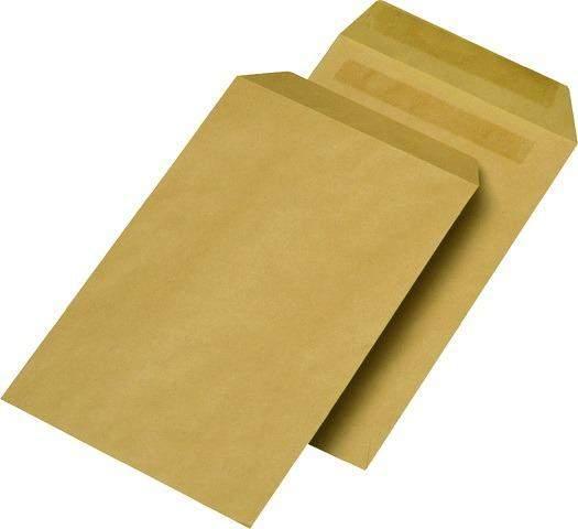 Versandtaschen Briefumschläge B5 BRAUN ohne Fenster NK nassklebend 500 Stückk