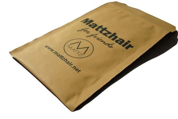 Bedruckte Papierpolstertasche in braun