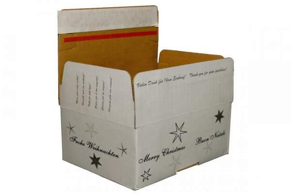 Karton 16x13x7cm mit Aufdruck Frohe Weihnachten