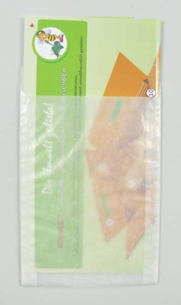 Papier-Flachbeutel transluzent 115x160+20mm