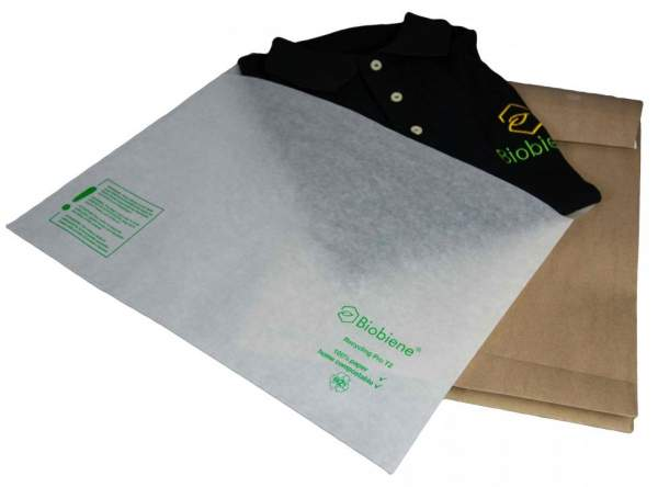 Versandverpackung für Textilien aus 100% Papier - Schutzhülle und Versandtasche