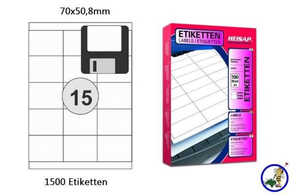 Papier-Etiketten 70x50,8mm DIN A4