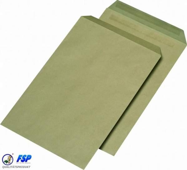 Braune DIN C4 Briefumschläge 229x324mm 110g/qm ohne Fenster sk (250 Stück)