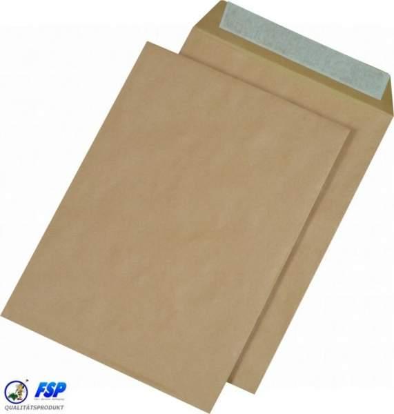 Braune DIN D4 250x353mm Versandtasche ohne Fenster (250 Stück)