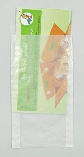 Papier-Flachbeutel transluzent 125x230+20mm
